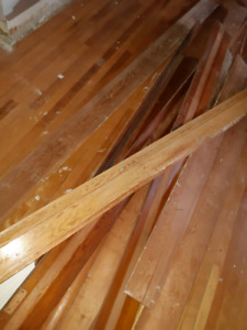 Used baseboards,  solid wood