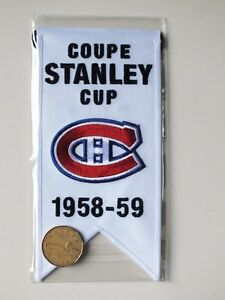 CENTENNIAL STANLEY CUP 1958-59 BANNER MONTREAL CANADIENS HABS Gatineau Ottawa / Gatineau Area image 2