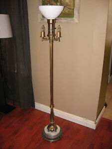 Vintage Torchiere Lamp