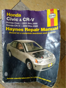 Haynes  for Honda Civic (01-05) and CR-V (02-06)