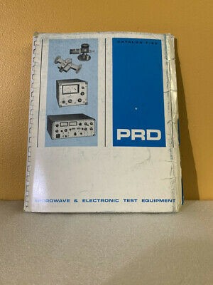 Prd Microwave Electronic Test Equipment Catalog F-65