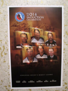 TRADE FOR 2017 HOCKEY HALL OF FAME SIGNED PRINT POSTER