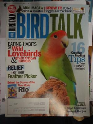 *BIRD TALK MAGAZINE May 11 Feather Picking Treatment Mini Macaw Lovebird Parrots