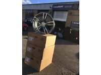 "19"" BMW alloy wheels alloys rims 1 3 5 series vw Volkswagen transporter t5"