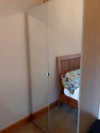 IKEA double mirrored wardrobe