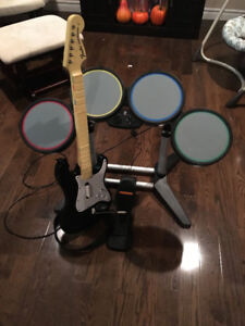 Rockband Drums and Guitar for Playstation