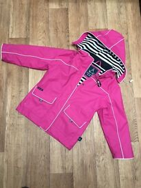 Girls pink waterproof coat age 5-6