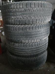 4 x P255/65R18 Goodyear Fortera summer tires pneus d'été