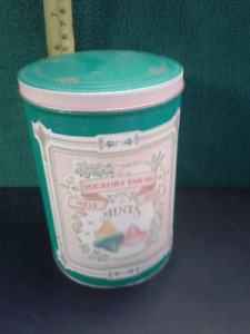 Hickory Farms Tin can Mint