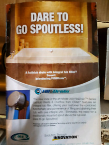 Fill and Drain Spoutless tub drain