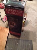 Fireplace tool set and stand