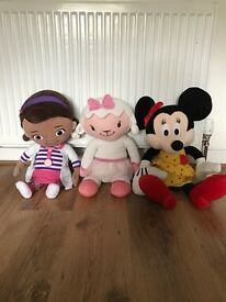 Doc mcstuffin / Mickey Mouse characters large teddy