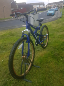 Full Suspension disc brake 18 speed mountain bike, good condition.