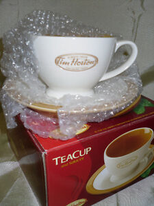 Tim Horton's Tea cup & saucer new in box