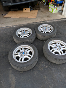 E36 stock rims style 30 with Continental tires