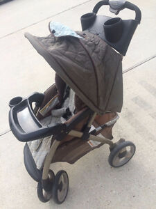 Eddie-Bauer-Stand-Alone-Single-Seat-Baby Carriage Stroller