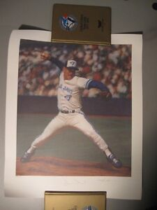 "TORONTO BLUE JAYS DUANE WARD PRINT AUTOGRAPHED ""THE CLOSER"""