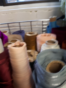 Fabric store fixtures, counters, fabric, pegboards, for sale