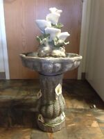 DECORATIVE ORCHID WATER FOUNTAIN
