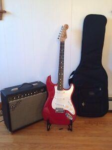 Squire Strat Pack,  guitar+amp+bag