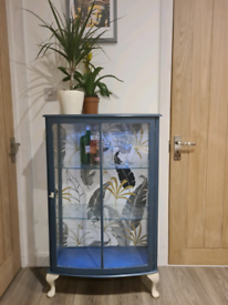 Vintage Upcycled Gin Cabinet/Drinks Glass Cabinet