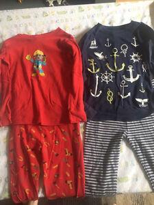 Pyjama tops and bottoms - size 5 boys