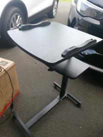 Laptop stand workstation black adjustable height