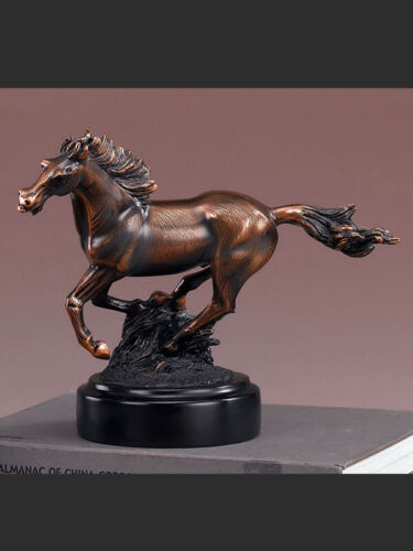 "American West Horse Copper Figurine Statue 10.5""x 8.5"""
