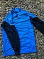 Adidas soccer shorts and goalie jersey