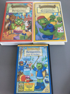 Lot de films VHS et DVD – Benjamin la tortue