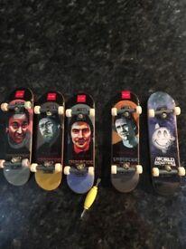 Tech decks finger skateboards x 5 as new