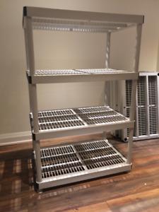 4-Shelf Resin Storage Unit x 2 - Vented Plastic Shelving