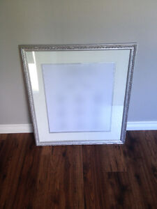 "Large Silver Picture Frame 28""x32"""