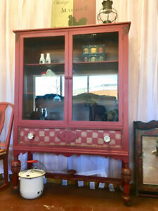 Hand Painted Farmhouse Cabinet and Island/Sideboard