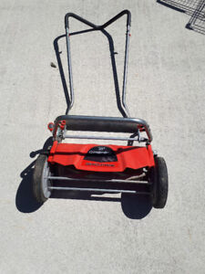 "For Sale:  Troybilt 18"" Revolution Push Mower, little use."