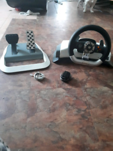 Xbox 360 steering wheel and gas,brake pedals