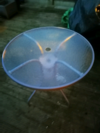 For sale a glass patio metal stand table well looked after.