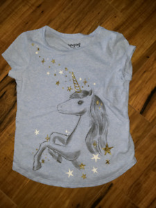 Girls size 6 sparkly unicorn t shirt