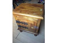 Shabby Chic, rustic Table storage cabinet