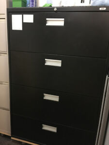 Staples® Lateral File Cabinet, 4-Drawer, Black ONLY $400