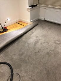 Grey carpet with underlay