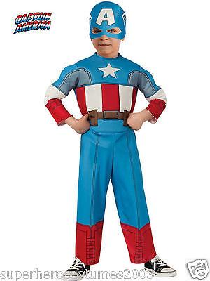 The Avengers Captain America Kleinkind Kostüm 2T - 4T Brandneu 620018 Rubies