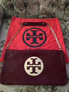 LIKE NEW! Authentic TORY BURCH Leather Reva Clutch/ Shoulder bag
