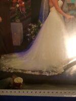 Beautiful Ivory Princess cut Alfred Angelo Wedding Dress