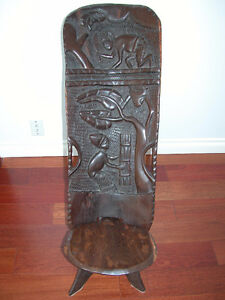African carved chairs