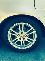 205/55/16 Continental Tires on Acura Rims For Sale