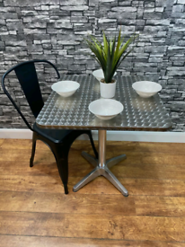 Heavy Duty Outdoor Stainless Steel Inox Bistro Pub Garden Table 700mm