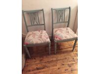 Dinning chairs, painted in Annie slone duck egg blue