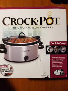 Crock Pot Cook & Carry 4 Quart Oval