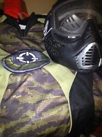 Paintball gear mask and attire only 45$!